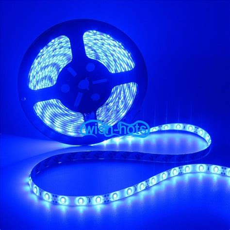 led accent light strips 16 ft 5m blue boat accent light waterproof led lighting 300 5050 smd leds ebay