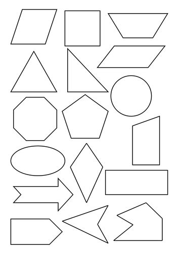2d shape templates sorting 2d shapes by carolebeachill teaching resources tes