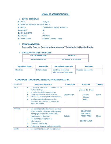 sesion de aprendizaje sesi 243 n de aprendizaje n 186 1