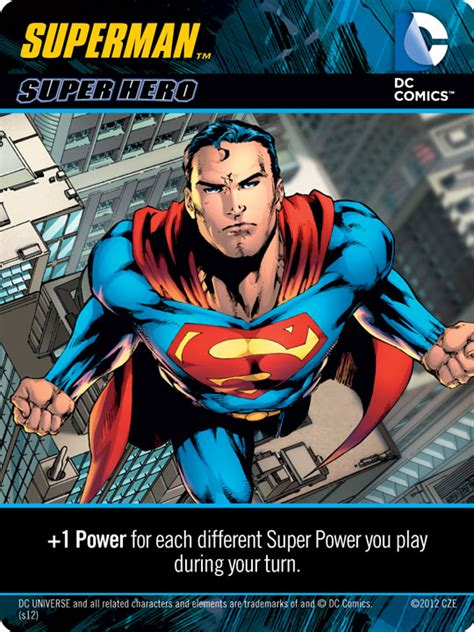 Superman Powers Card Template by R D Jumping Into Dc Comics Deck Building Part 2