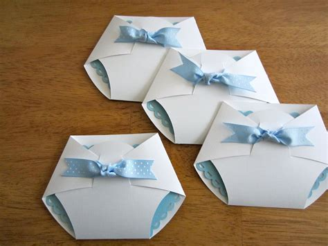 Handmade Baby Shower Invites - handmade baby shower invitation shape