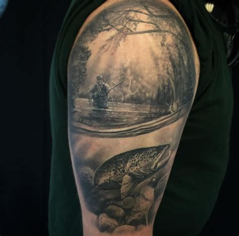 fly fishing tattoo inkstylemag