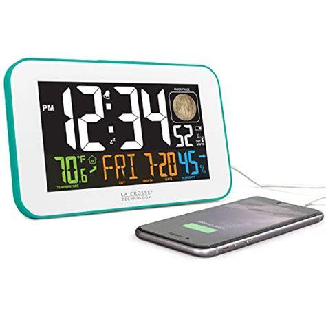 bedside l with usb charging port la crosse technology 617 1485bl led color alarm clock with