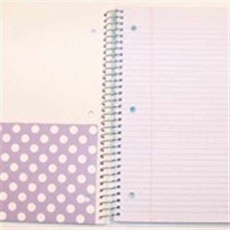 pattern play notebooks carolina pad studio c college ruled poly cover 5 subject