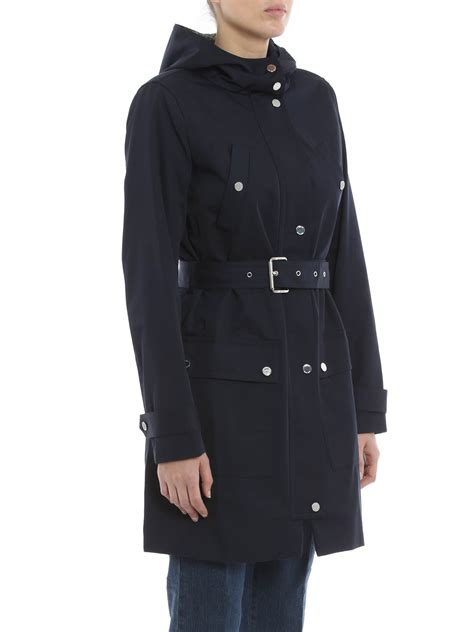 Hooded Buttoned Trench Coat michael kors hooded trench coat trench coats