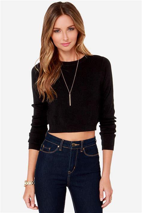 best black crop top sweater top black top 49 00