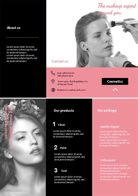 beauty salon brochure template salon brochure free salon brochure templates