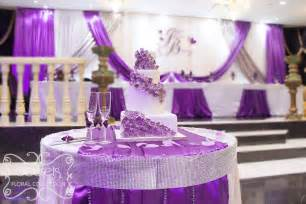 Purple Silver Decorations A Crystallized Royal Purple And Silver Wedding Reception