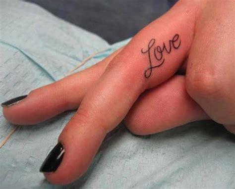 love tattoo on wedding finger 30 elegant finger tattoos for women tattooblend