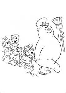8 Best Images Of Frosty The Snowman Free Printable Frosty Coloring Pages