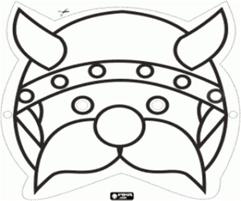 printable viking mask vikings coloring pages printable games