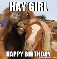 Happy Birthday Girl Meme - happy birthday horse my blog
