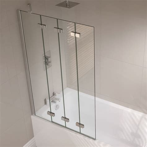 Concertina Shower Doors April Frameless 4 Fold Bath Screen Left Or Right Option At Plumbing Uk