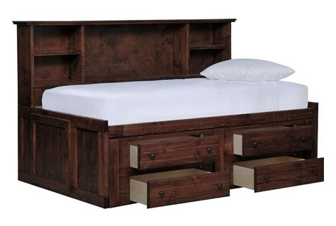 Name Drawer by Sedona Roomsaver Bed W 4 Drawer Captains Unit