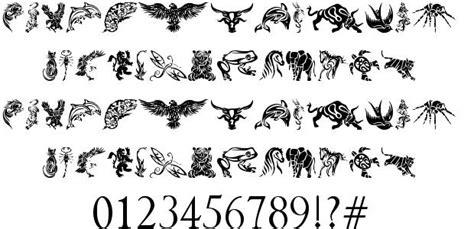 animal tattoo fonts scarica font tribal animals tattoo designs