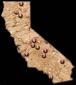 california caverns map u s show caves directory california