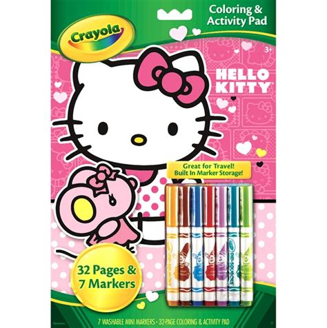 crayola hello kitty mini coloring pages paper pads