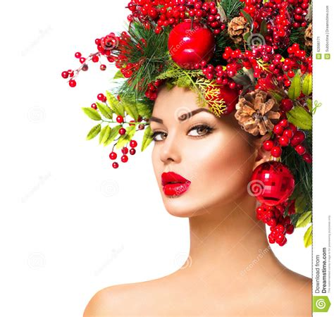 christmas fashion model woman stock photo image 62696171