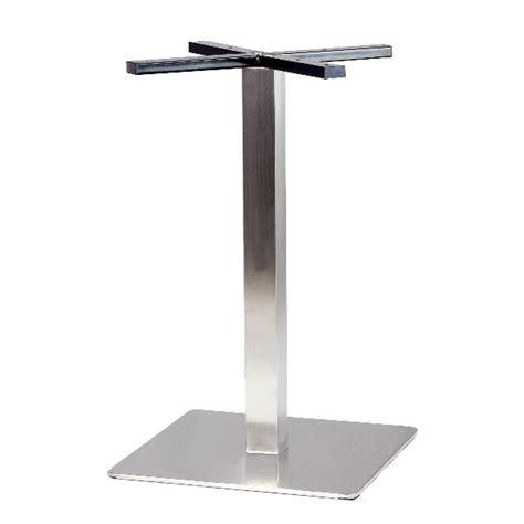 pieds de table inox pied de table en inox brosse base carree angle arrondi pch