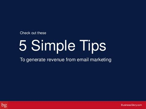 Email Marketing 5 by Email Marketing 101 5 Tips To Generate Revenue