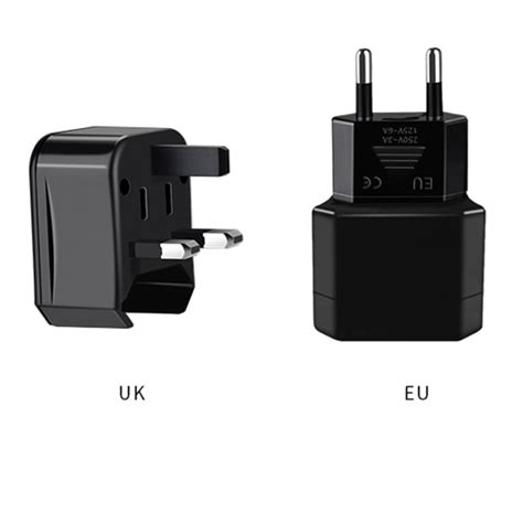 hoco universal travel socket charger power adapter ac1 black jakartanotebook
