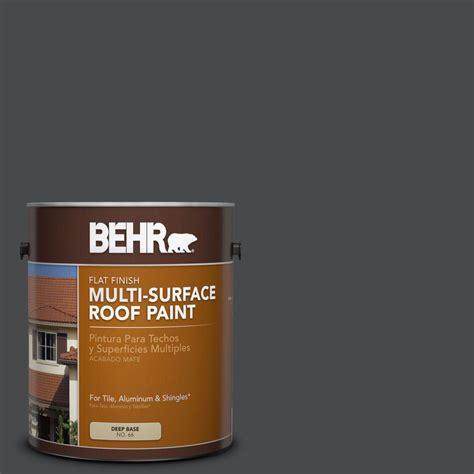 behr 1 gal white reflective flat multi surface roof paint