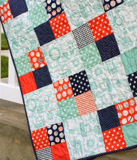 Patchwork Patches - fast four patch quilt tutorial diary of a quilter a