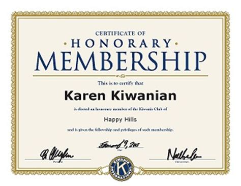 honorary membership certificate template honorary members