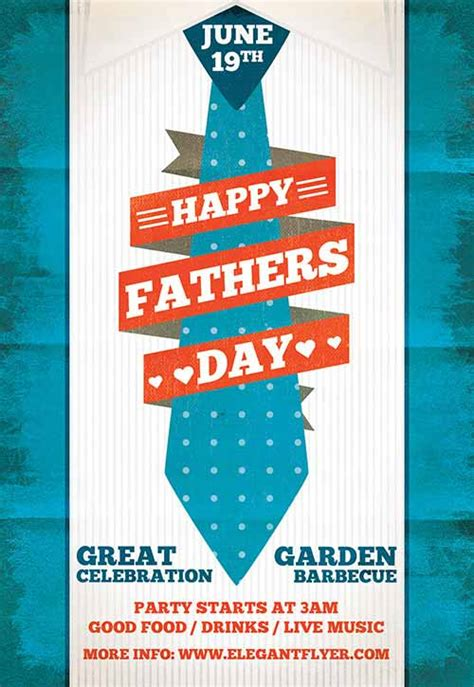 fathers day template the fathers day free flyer template