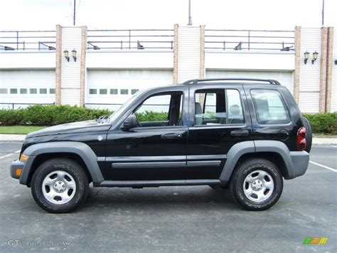 Jeep 2005 Liberty Black Clearcoat 2005 Jeep Liberty Sport 4x4 Exterior Photo