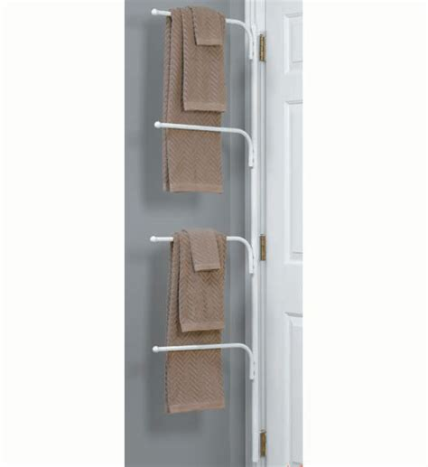 bathroom door hinge towel rack hinge it clutter buster door towel rack white in behind