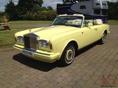 roll royce yellow possibly unique rolls royce corniche 111 drophead in