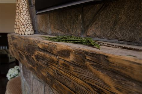 hewn barn beam mantels fireplace accessories