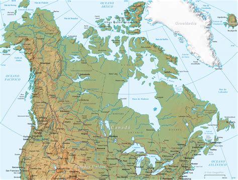 www maps canada mapa f 237 sico y pol 237 tico de canad 225 para descargar universo