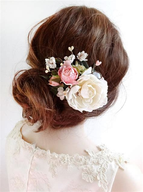 Wedding Hair Flower Pieces by Bridal Hair Clip Floral Hair Clip Bridal Hair