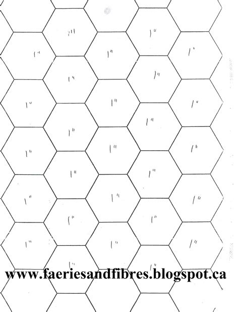 1 Hexagon Template faeries and fibres easier than pie and easier than pie
