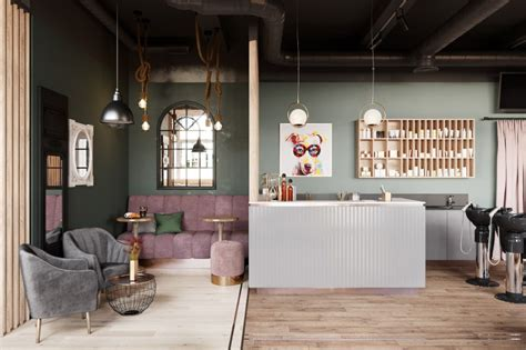 Salon Industriel Design by A Salon In St Petersburg With Industrial Lighting