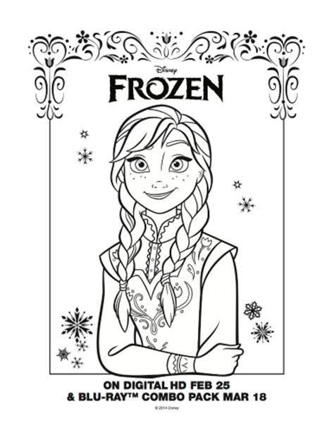 printable frozen anna disney frozen free printable coloring page anna mama