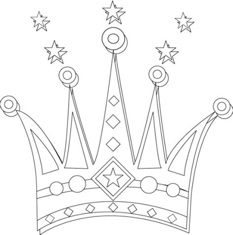 printable crown to color crown jewels free coloring pages