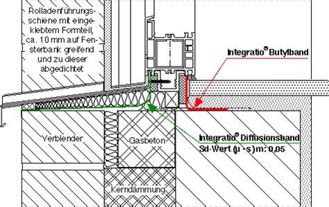 Fenster Mauerwerk Abdichten integratio fensterhandbuch anschl 252 sse fensterrahmen unten