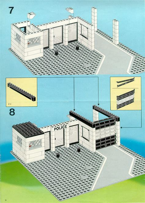 Castle Home Plans lego police command base instructions 6386 police