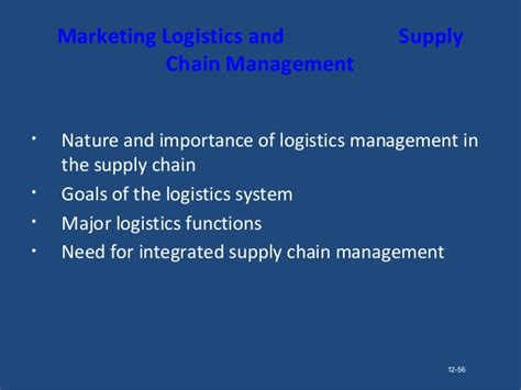 Executive Mba In Logistics And Supply Chain Management In India by Marketing Channels Supply Chain Management Parakramesh