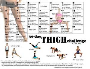 25 best ideas about 30 day thigh challenge on
