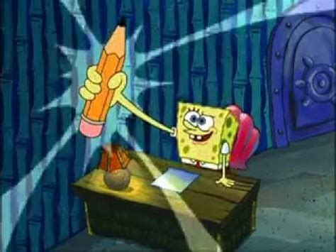 spongebob writing paper spongebob writes an essay for about 10 minutes