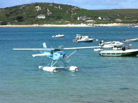 flying boat scilly isles seaplane arriving at the flying boat club tresco isles of