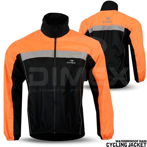 mens hi vis waterproof cycling mens cycling jacket hi visibility waterproof running top