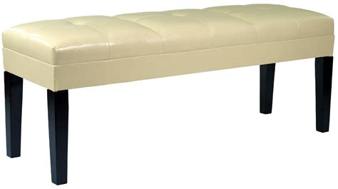 cream leather bench howard cream bonded leather bench from armen living