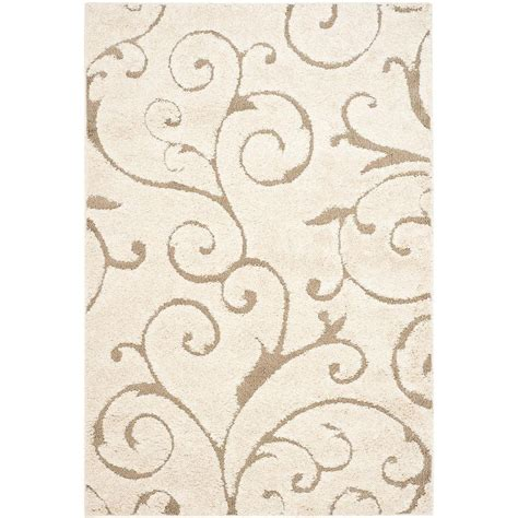 6 X 12 Area Rug Safavieh Florida Shag Beige 8 Ft 6 In X 12 Ft Area Rug Sg455 1113 9 The Home Depot
