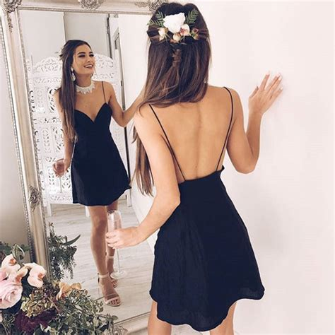 homecoming hairstyles for backless dresses spaghetti straps homecoming dress elegant homecoming dress