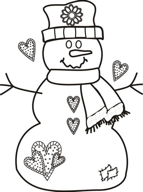 snowman coloring pages    print